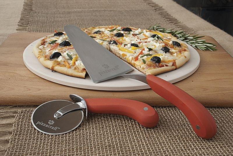 Sada velkého pizza kamene, kolečka a lopatky na pizzu Pizza Craft
