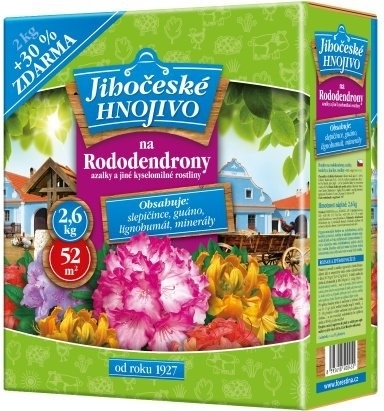 Jihočeské hnojivo na rododendrony, azalky 2kg + 30% FORESTINA