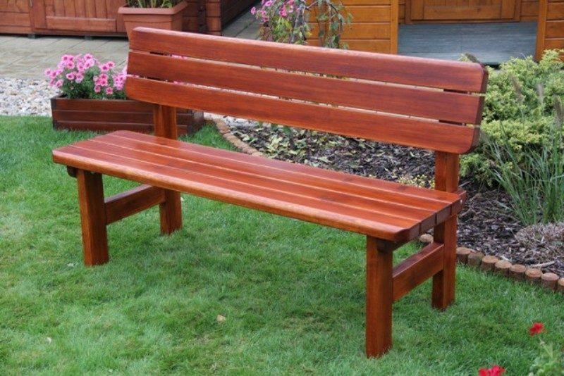 Zahradní dřevěná lavice ROVNÁ bez povrchové úpravy