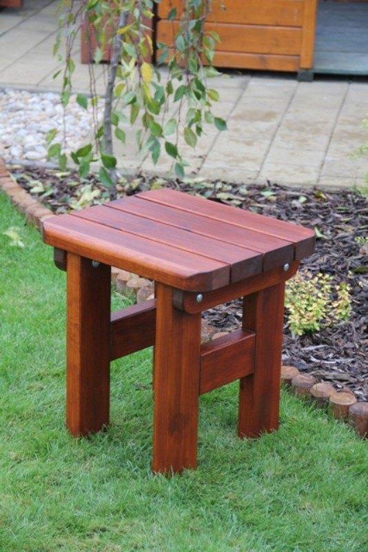 Zahradní dřevěná stolička Liška ROVNÁ s povrchovou úpravou