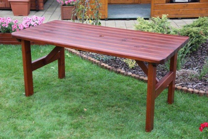 Zahradní dřevěný stůl Liška ROVNÁ bez povrchové úpravy