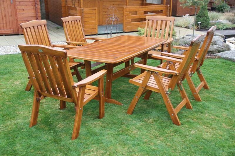 Zahradní dřevěný set RULEN I. s povrchovou úpravou