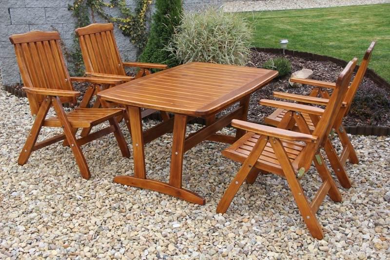 Zahradní dřevěný set RULEN II. s povrchovou úpravou