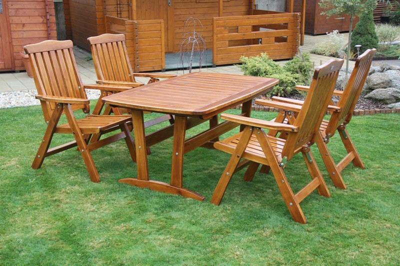 Zahradní dřevěný set RULEN IV. s povrchovou úpravou