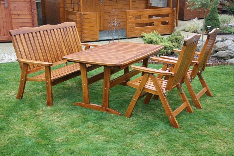 Zahradní dřevěný set Liška RULEN I. bez povrchové úpravy