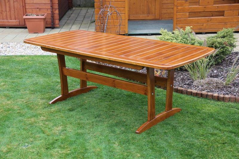 Zahradní dřevěný stůl velký Liška RULEN bez povrchové úpravy