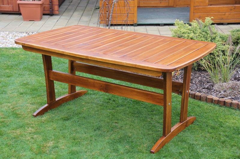 Zahradní dřevěný stůl malý Liška RULEN bez povrchové úpravy