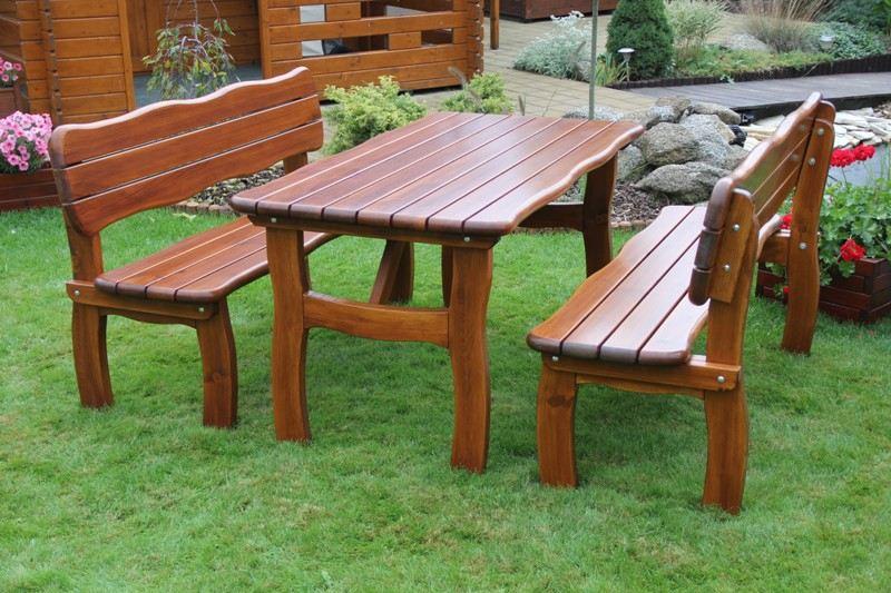 Zahradní dřevěný set LORIT I. s povrchovou úpravou
