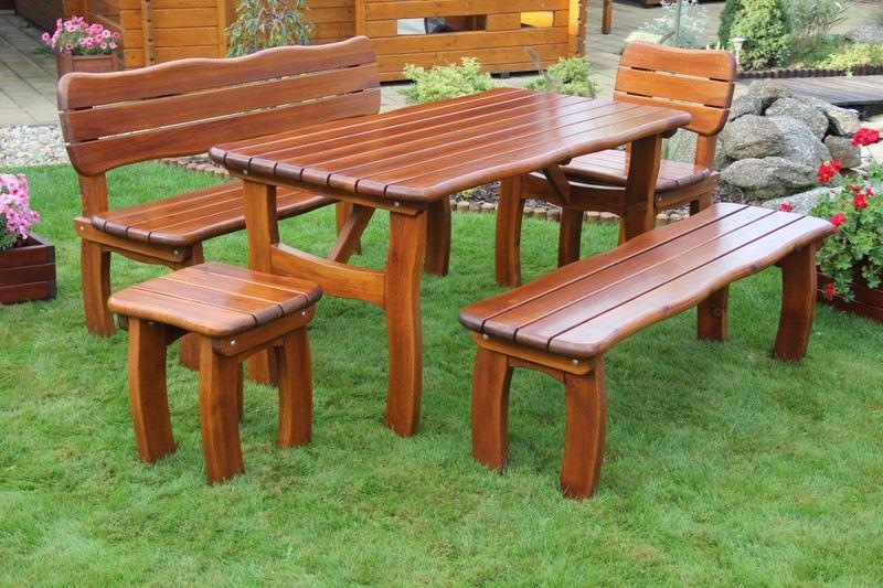 Zahradní dřevěný set LORIT II. s povrchovou úpravou