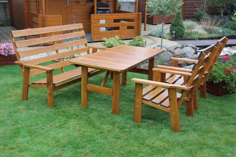Zahradní dřevěný set SEVILA I. s povrchovou úpravou