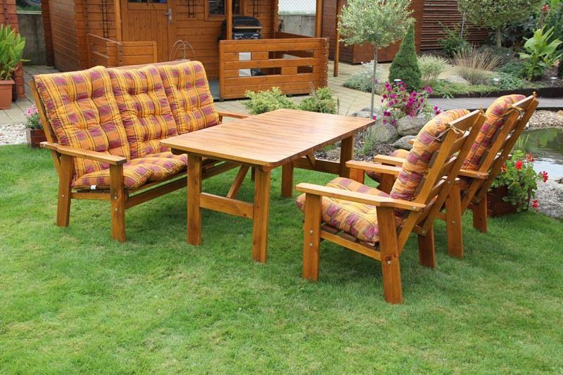 Zahradní dřevěný set SEVILA II. s povrchovou úpravou