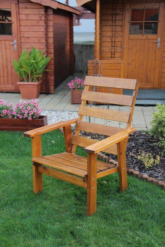 Zahradní dřevěné křeslo SEVILA bez povrchové úpravy