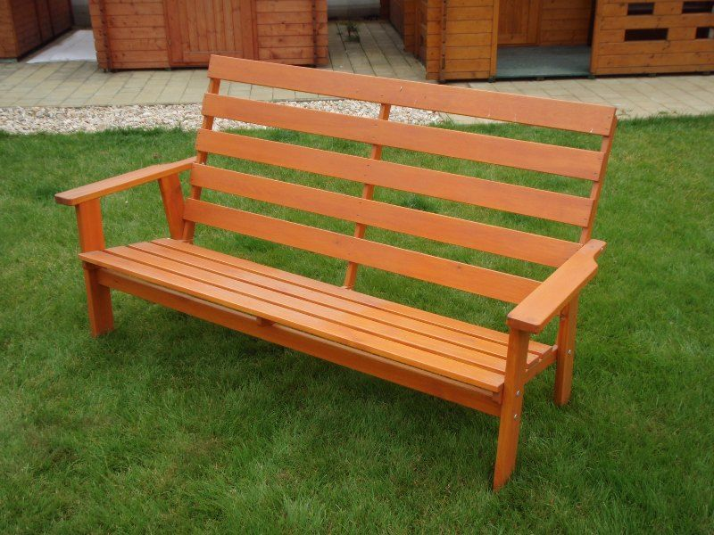 Zahradní dřevěná lavice SEVILA bez povrchové úpravy