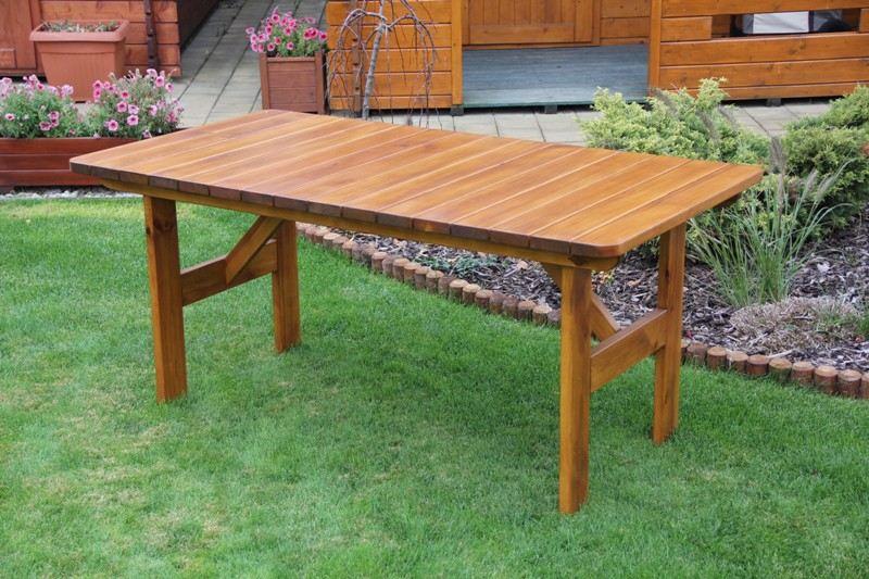 Zahradní dřevěný stůl Liška SEVILA bez povrchové úpravy