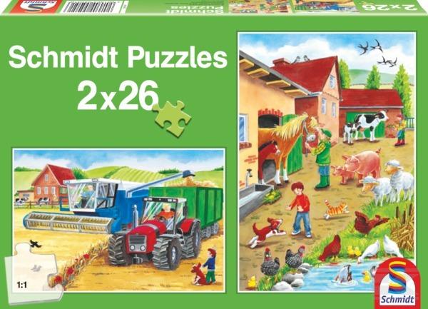 Puzzle Na selském dvoře SCHMIDT