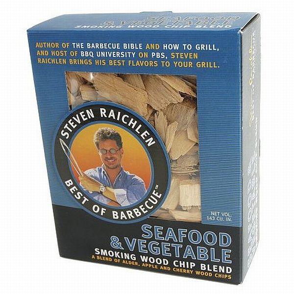 Směs dřevěných lupínků k uzení_zelenina a mořské plody Steven Raichlen