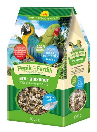 Prémiové krmivo - směs pro velké papoušky 1000g Forestina