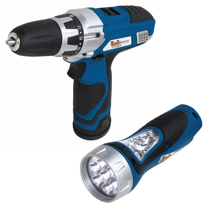 Aku šroubovák WB 12 V LI ASS vč. LED-aku svítilny Workers Best