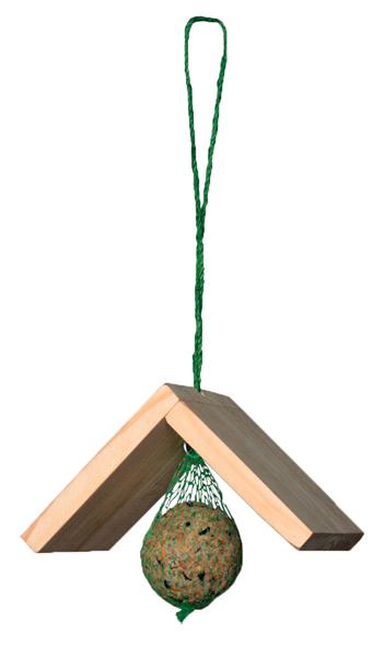 Krmivo pro ptactvo - Závěs pro lojové koule - dřevěný KRMÍTKO