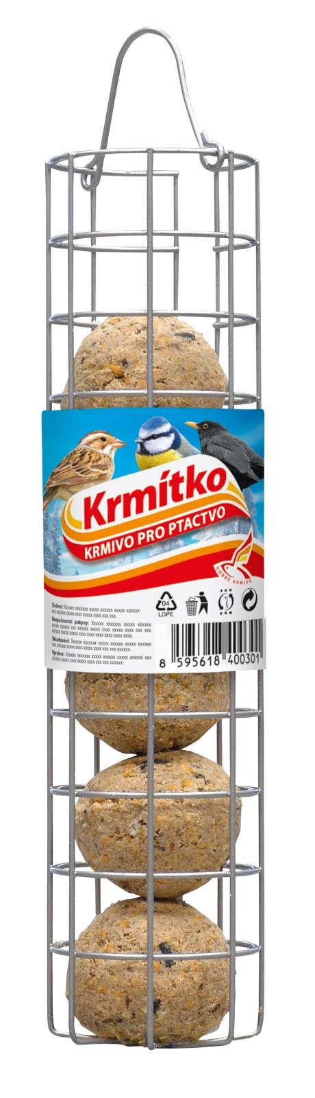 FORESTINA Krmivo pro ptactvo - Závěsný zásobník na lojové koule KRMÍTKO