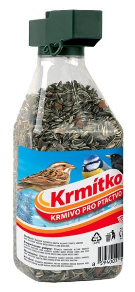 Krmivo pro ptactvo - Závěsné krmítko s náplní 500g KRMÍTKO